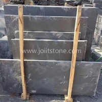 S001 Customize Riven Black Slabs For Fireplace Hearths