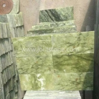 MT014 Sichuan Green Marble Polished Flooring And Wall Tiles