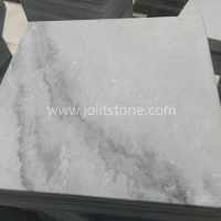 MT016 Flamed Surface Cloudy Grey Veins Marble Swimming Pool Pavers
