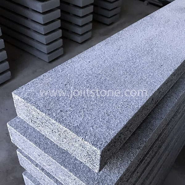 KS009 Flamed G654 Dark Grey Granite Curbstone