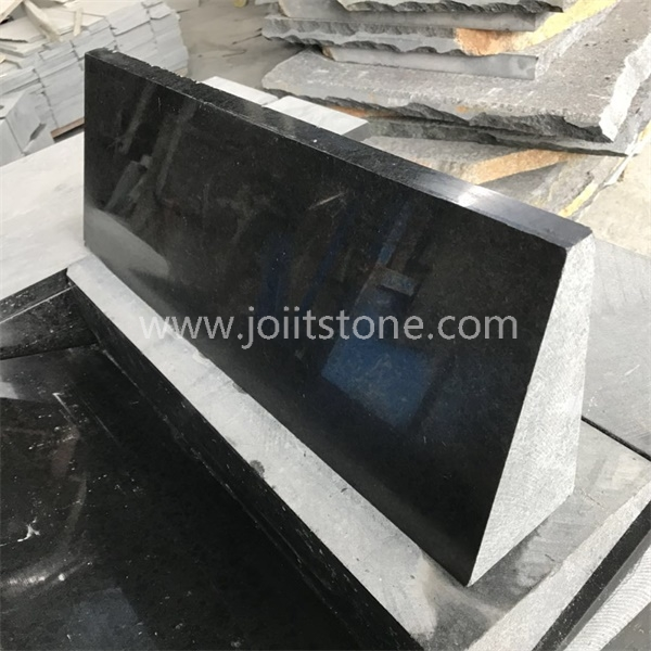 KS012 Polished Natural Black Granite Paracarro For Road Construction