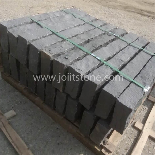 KS016 Split Dark Black Basalt Kerb Stone For Decoration