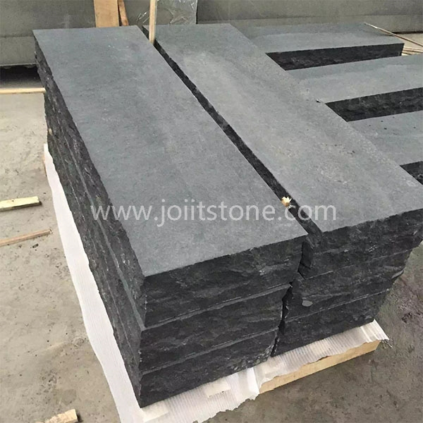 KS023 G684 Flamed Surface Black Basalt Kerbs and Palisades